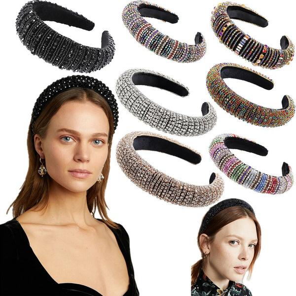 Women, Flowers, crystalhairband, baroqueheadband