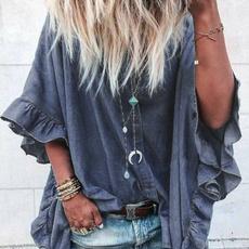 shirtsforwomen, blouse, Bat, Plus Size