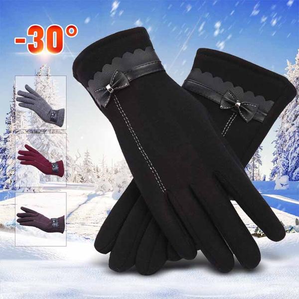 bowknot, Touch Screen, warmglove, Winter