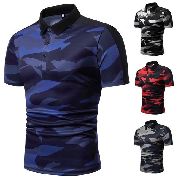 Mens T Shirt, topsamptshirt, Polo Shirts, Summer