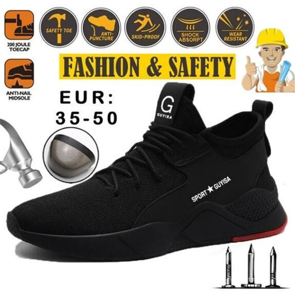 Steel Toe Shoes Kevlar Fiber Safety