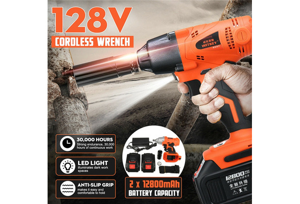 "Tool Hub 10201 20V 1//2/"" LED Impact Power Wrench Driver 600nm Cordless Electric"