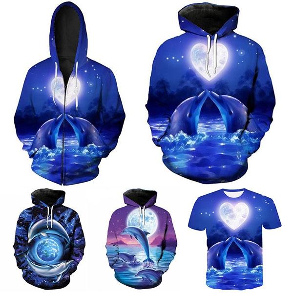 Couple Hoodies, hoodyjacket, Casual Hoodie, dolphin