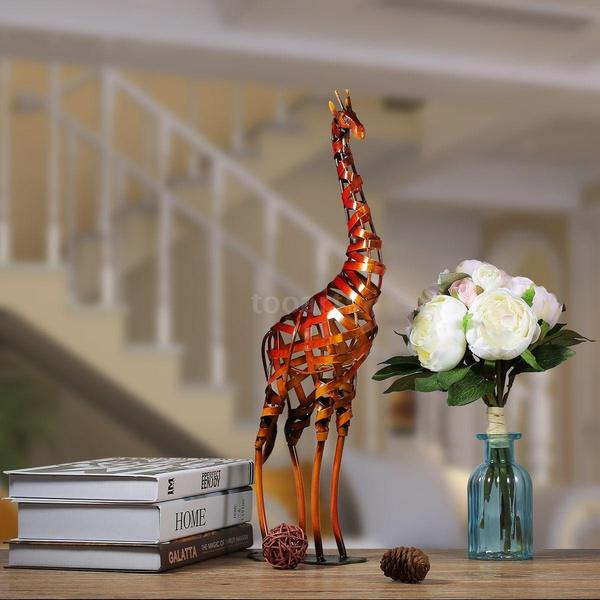 metalsculpture, handicraft, Home Decor, giraffeornament
