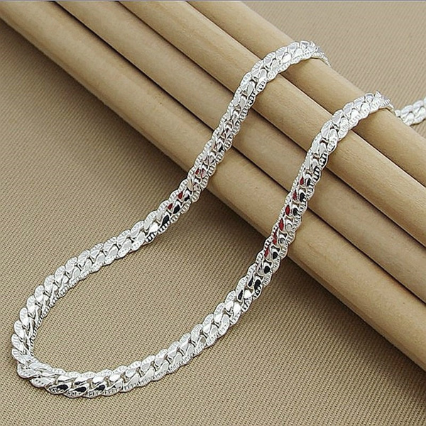 925 sterling silver necklace, Sterling, Chain Necklace, Men  Necklace