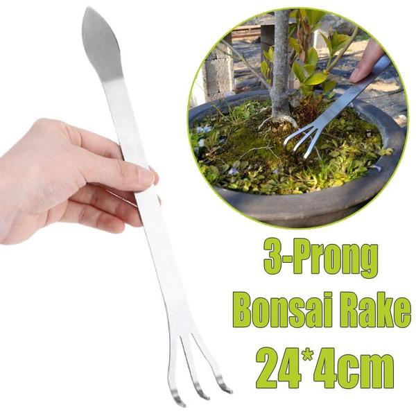 Bonsai, loosensoiltool, removingweed, rake
