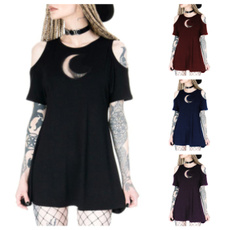 Mini, Goth, Fashion, Hollow-out