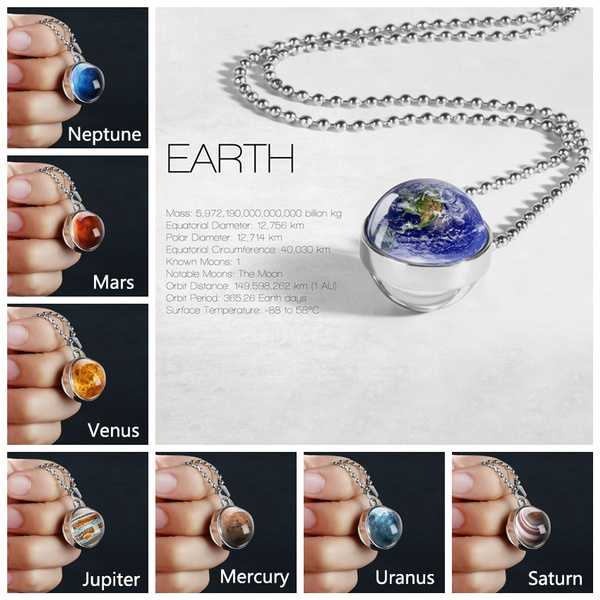 doublesidenecklace, planetpendant, Jewelry, Gifts