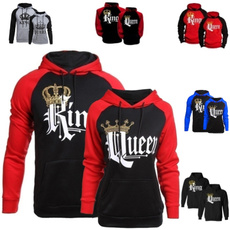King, Fashion, Long Sleeve, Women Hoodie