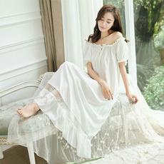 lacenightgown, puffsleevenightwear, ruffle, Lace