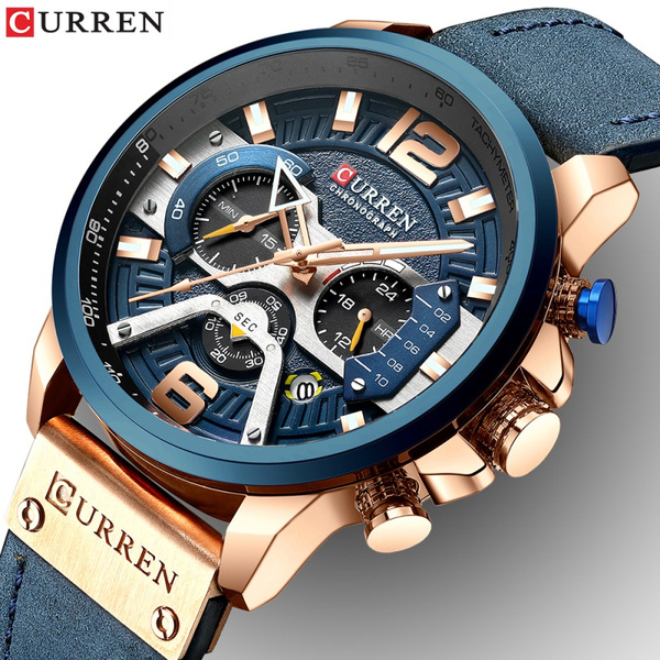 Blues, watchformen, Fashion, chronographwatchformen