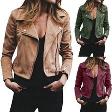 motorcyclejacket, Plus Size, Zip, Sleeve