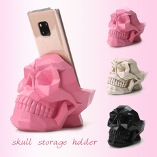 Head, makeup brush holder, Skeleton, Beauty