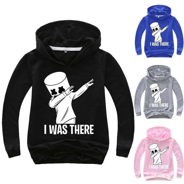 DJ Marshmello smile Bastille Kids  Size EDM Hoodies Hoody Sweatshirt Tops