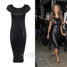 nightclub dress, leather dress, Shorts, Sleeve