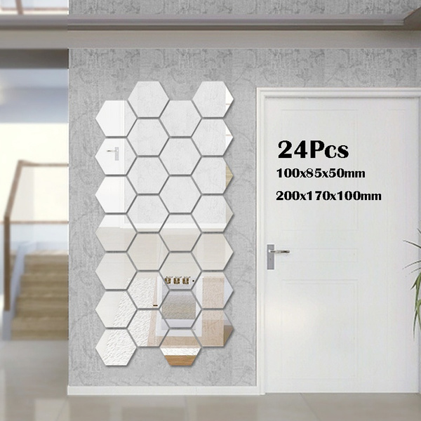 Decor, mirrorwall, Home & Living, Stickers