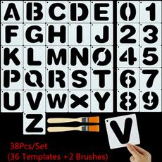 numberstencil, alphabettemplate, Scrapbooking, diycraft