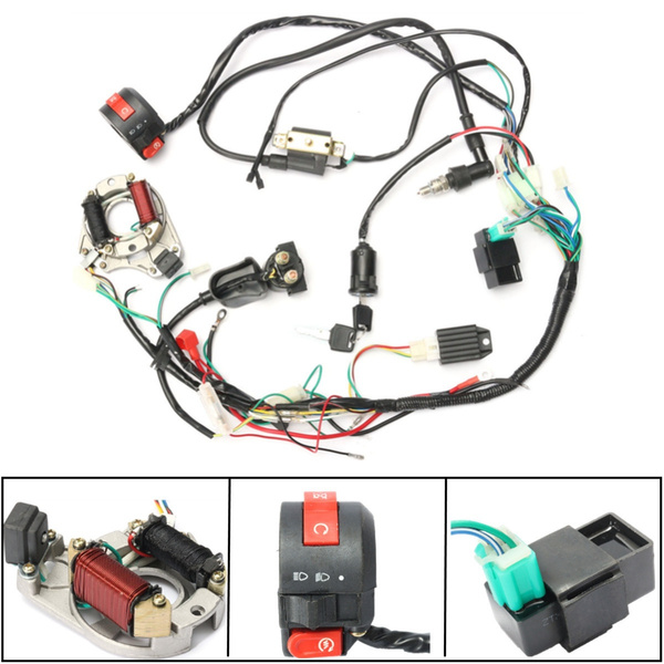 5 Pins CDI Wire Harness Assembly Wiring Kit for 50cc 70cc 90cc 110cc 125cc  Chinese Electric start Quads 2 Stroke 4 Stroke | WishWish