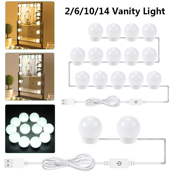 5v Usb Power Vanity Lights Kit Makeup, Bathroom Vanity Light Bulbs