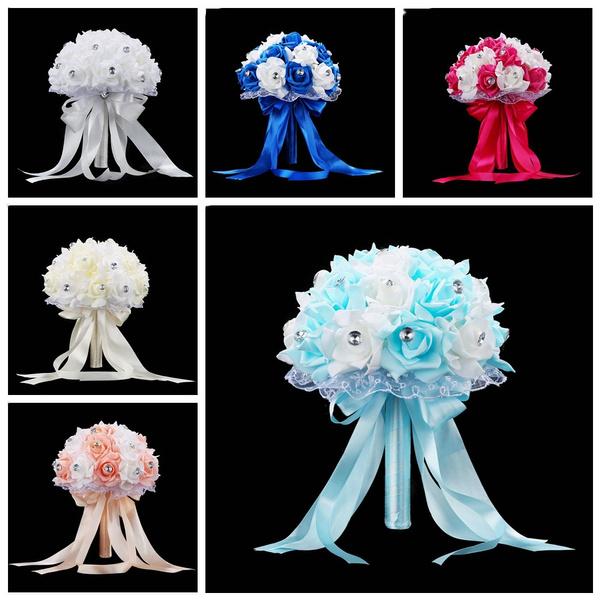rhinestonelacehandbouquet, Decor, wedding decoration, Lace