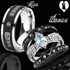 Couple Rings, Steel, Moda masculina, Joyería de pavo reales