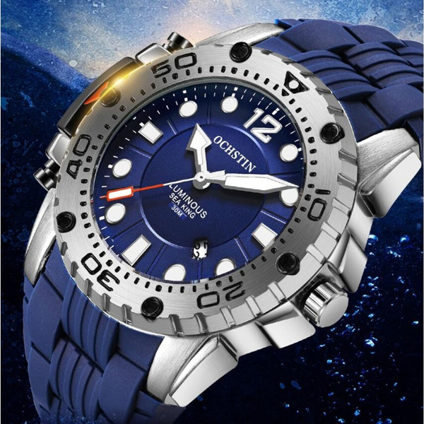 Fashion, Waterproof, Silicone, Watch