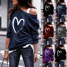 Heart, oversisze, Sexy Top, Sleeve