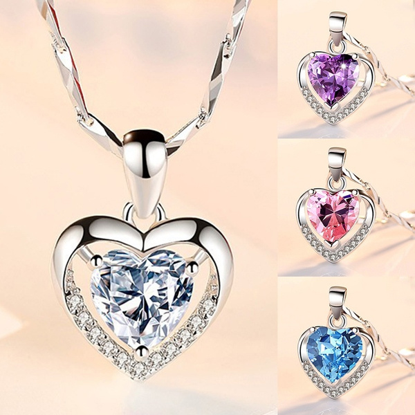 Sterling, Heart, DIAMOND, 925 sterling silver
