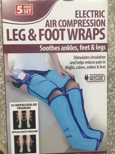 aircompressionfootmassager, Electric, airpressure, calfmassage