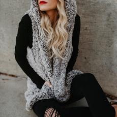 fur coat, Vest, Plus Size, fur