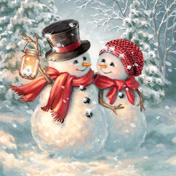 snowman, Piazza alla francese, Embroidery, Regali