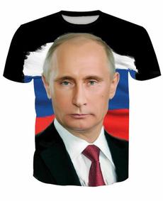 putin, Shirt, vladimir, Men