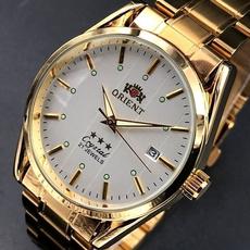 Steel, Fashion, business watch, gold