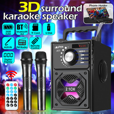 Microphone, lights, Wireless Speakers, Speaker Systems