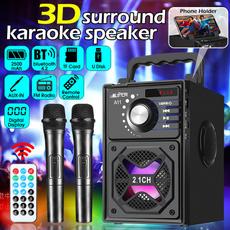 Microphone, lights, Wireless Speakers, Speaker Systems