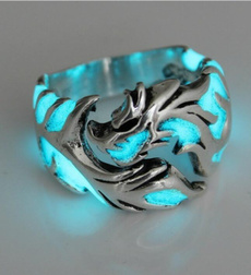 men_rings, Women Ring, Glow, retro ring