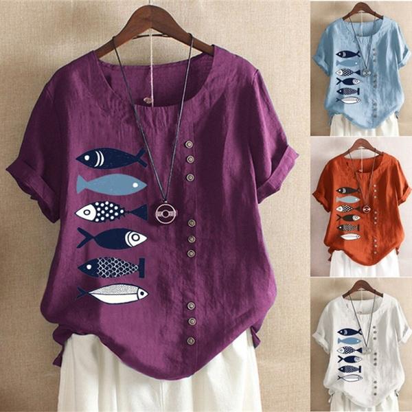 Summer, Plus Size, printed shirts, summer t-shirts