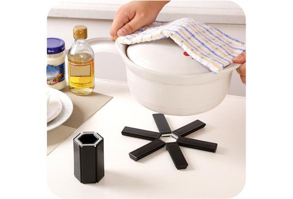6pcs Cloth Flower Trivet Pot Pan Holder Mat Pad Non-slip Heat Resistant Ne UKLQ