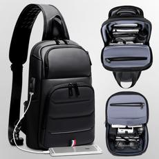 Shoulder Bags, usb, Waterproof, Men