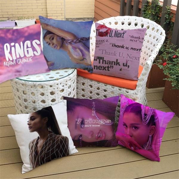 American Singer Ariana Grande Patrtern Pillow Sofa Car Bed Sofa Ariana 7 Rings Pillow Case Bedroom Decoration Cushion Cover Home Decor Wish
