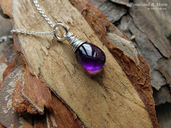 Sterling, Jewelry, bohemiannecklace, purple