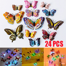 PVC wall stickers, butterfly, Decor, led