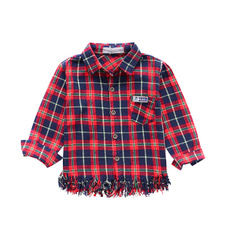 checkeredshirt, blouse, Tassels, plaid