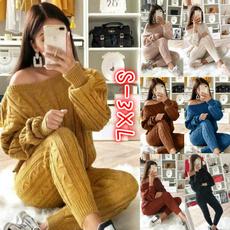 Fashion, long sleeve sweater, pants, Long Sleeve