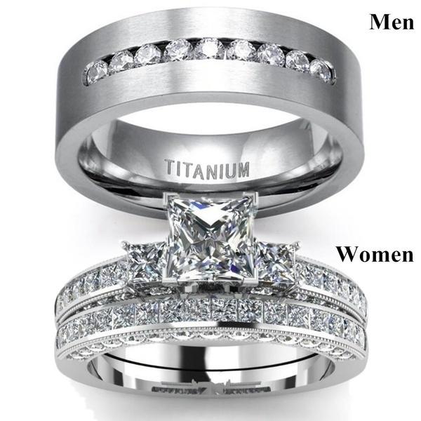 Sterling, ringsformen, DIAMOND, 8MM