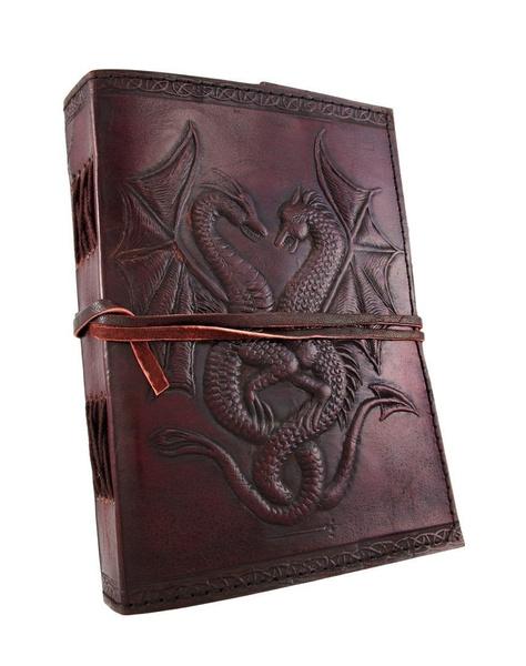 dragonjournal, leaf, writingpad, leathernotebook