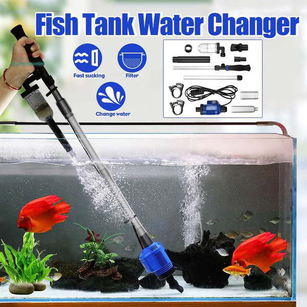 Efficient Electric Aquarium Water Change Pump Cleaning Tools Water Changer Gravel Cleaner Siphon For Fish Tank Water Filter Pump Wish