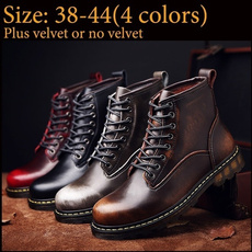ankle boots, Fashion, leather shoes, Waterproof