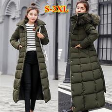 Down Jacket, Plus Size, Winter, hoodedjacket