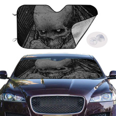 designfront, folding, carwindowcover, skull